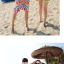 เสื้อคู่รัก ชุดคู่รักเที่ยวทะเลชาย +หญิง เสื้อยืดสีขาวลายต้นมะพร้าวลอยน้ำ กางเกงขาสั้นลายไทยโทนสีส้ม +พร้อมส่ง+ thumbnail 7