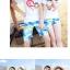 เสื้อคู่รัก ชุดคู่รักเที่ยวทะเลชาย +หญิง เสื้อยืดสีขาวลาย LO VE กางเกงขาสั้นลายต้นมะพร้าว +พร้อมส่ง+ thumbnail 5