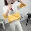 เสื้อแขนยาวแฟชั่นพร้อมส่งเสื้อแขนยาวแต่งสีขาวสลับเหลือง แต่งสกรีนลายตุ๊กตาน่ารัก Good Night +พร้อมส่ง+ thumbnail 2