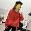 เสื้อแขนยาวแฟชั่นพร้อมส่ง เสื้อแขนยาวสีส้ม แต่งสกรีนรูปหอคอย +พร้อมส่ง+ thumbnail 3