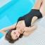 พร้อมส่ง ชุดว่ายน้ำวันพีซโมโนกินี่ Monokini สีดำ สายด้านหลังปรับใส่ได้ทั้งตรงและไขว้หลังสุดเย้ายวน thumbnail 5