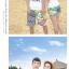 เสื้อคู่รัก ชุดคู่รักเที่ยวทะเลชาย +หญิง เสื้อยืดสีขาวลายยิ้ม I Love กางเกงขาสั้นลายเส้น +พร้อมส่ง+ thumbnail 6