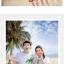 เสื้อคู่รัก ชุดคู่รักเที่ยวทะเลชาย +หญิง เสื้อยืดสีขาวคนนั่งใต้ต้นมะพร้าว กางเกงขาสั้นลายแถบสี +พร้อมส่ง+ thumbnail 3