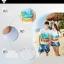 เสื้อคู่รัก ชุดคู่รักเที่ยวทะเลชาย +หญิง เสื้อยืดสีขาวลายคู่รักนอนตากแดด กางเกงขาสั้นลายแฉกโทนสีฟ้า +พร้อมส่ง+ thumbnail 4