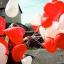 """ลูกโป่งหัวใจ เนื้อสแตนดาร์ทคละสีแดง และสีขาว ไซส์ 12 นิ้ว แพ็คละ 10 ใบ (Heart Latex Balloon - Mixed Red & White Color 12"""") thumbnail 1"""