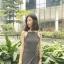 เสื้อผ้าแฟชั่นสไตส์เกาหลี เดรสยาวแขนกุด ลายริ้วสีดำขาว +พร้อมส่ง+ thumbnail 5