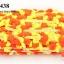 ปอมเส้นยาว สีส้ม-เหลือง กว้าง 2ซม (1หลา/90ซม) thumbnail 1