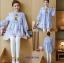 K1153401 เสื้อคลุมท้องแฟชั่้นเกาหลี โทนสีฟ้า thumbnail 1