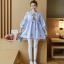 K1153401 เสื้อคลุมท้องแฟชั่้นเกาหลี โทนสีฟ้า thumbnail 2