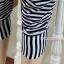 กางเกงคลุมท้องขาสี่ส่วน Harem : สีดำ-ขาว รหัส PN164 thumbnail 7