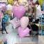 "Set#85 ช่อลูกโป่งฟอลย์เด็กแรกคลอด Baby(1ใบ)+A New Little baby(1ใบ)+Foil balloons 18"" (3ใบ)+ฐานลูกโป่งเล็ก 1 ช่อ thumbnail 1"