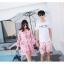 ชุดเสื้อคู่รักเที่ยวทะเล ชายเสื้อยืดพร้อมกางเกงขาสั้น + เดรสแขนยาว สีชมพู แต่งลายดอกไม้ +พร้อมส่ง สำเนา thumbnail 7