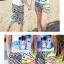 เสื้อคู่รัก ชุดคู่รักเที่ยวทะเลชาย +หญิง เสื้อยืดสีขาวลายสวีทริมทะเล กางเกงขาสั้นลายเส้น +พร้อมส่ง+ thumbnail 7