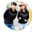 เสื้อกันหนาวคู่รักพร้อมส่ง แฟชั่นคู่รัก ชาย +หญิงเสื้อกันหนาวแบบสวม มีฮูด สีดำ แต่งลายใบไม้ thumbnail 6