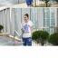เสื้อพร้อมกางเกงคลุมท้อง ลายสกีน FLORIDA แบบมีฮู้ด : สีน้ำเงิน รหัส SH059 thumbnail 2