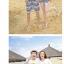 เสื้อคู่รัก ชุดคู่รักเที่ยวทะเลชาย +หญิง เสื้อยืดสีขาวลายยิ้ม I Love กางเกงขาสั้นลายไทย สีดำ +พร้อมส่ง+ thumbnail 3