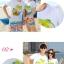 เสื้อคู่รัก ชุดคู่รักเที่ยวทะเลชาย +หญิง เสื้อยืดสีขาวลายต้นมะพร้าวลอยน้ำ กางเกงขาสั้นลายไทยโทนสีส้ม +พร้อมส่ง+ thumbnail 2