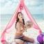 พร้อมส่ง ชุดว่ายน้ำ Bikini ผูกข้าง ทูพีซ บราโทนสีส้มอ่อนๆ ลายโบฮีเมียนสวยๆ thumbnail 6