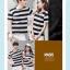+พร้อมส่ง+ เสื้อคู่รักเกาหลี แฟชั่นคู่รัก ชายหญิง เสื้อยืดคอกลม ลายริ้วใหญ่ สีดำสลับขาว thumbnail 9