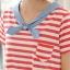 K2213 เสื้อคลุมท้องวัยรุ่น แฟชั่นเกาหลี โทนสีแดงสลับขาว คอทหารเรือ เนื้อผ้านิ่มใส่สบาย งานดีค่ะ thumbnail 7