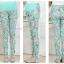 กางเกงขายาวผ้าคอตตอน ลายดอกไม้ สีเขียว : SIZE XXL รหัส PN180 thumbnail 9
