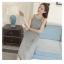 เสื้อผ้าแฟชั่นสไตส์เกาหลี เดรสยาวแขนกุด ลายริ้วสีเทาขาว+พร้อมส่ง+ thumbnail 3