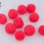 ปอมปอมไหมพรม กลม สีชมพูอมแดง 3.5ซม. (10 ลูก) thumbnail 1