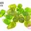 ลูกปัดแก้ว ทรงหยดน้ำ สีเขียวเจียรเหลี่ยม 10x15 มิล (1ขีด/100กรัม) thumbnail 1