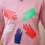 เสื้อแขนยาวแฟชั่นพร้อมส่ง เสื้อแขนยาวสีชมพู แต่งสกรีนรูปลายมือ +พร้อมส่ง+ thumbnail 14