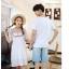 เสื้อคู่รัก แฟชั่นคู่รัก ชายเสื้อยืดคอกลม + เดรสคอกลม สีขาว แต่งลายไทย +พร้อมส่ง thumbnail 17