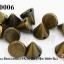 หมุดแหลม สีทองเหลือง 9X10 มิล (1ขีด/100กรัม) thumbnail 1