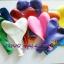 """ลูกโป่งหัวใจ สีมาตรฐาน คละสี ไซส์ 11 นิ้ว แพ็คละ 10 ใบ (Heart Latex Balloon - Mixed Standard Color 11"""") thumbnail 2"""