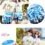 เสื้อคู่รัก ชุดคู่รักเที่ยวทะเลชาย +หญิง เสื้อยืดสีขาวลายคนติดเกาะ กางเกงขาสั้นลายต้นมะพร้าวโทนสีฟ้า +พร้อมส่ง+ thumbnail 2
