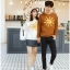 เสื้อแขนยาวคู่รัก เสื้อผ้าแฟชั่น ชาย เสื้อสีน้ำตาล +หญิง เสื้อแขนยาว สีขาว แต่งลายพระอาทิตย์ +พร้อมส่ง+ thumbnail 9