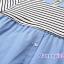 ชุดคลุมท้องเปิดให้นมพร้อมกางเกงคลุมท้อง : สีฟ้า-ขาว รหัส MN017 thumbnail 4
