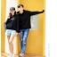 เสื้อกันหนาวคู่รักพร้อมส่ง แฟชั่นคู่รัก ชาย +หญิงเสื้อกันหนาวแบบสวม มีฮูด สีดำ thumbnail 7