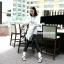 กางเกงฮาเร็มคลุมท้อง ขาขาว : สีดำ รหัส PN111 thumbnail 6