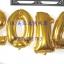 """ลูกโป่งฟอยล์รูปตัวเลข 0 สีทอง ไซส์จัมโบ้ 40 นิ้ว - Number 0 Shape Foil Balloon Size 40"""" Gold Color thumbnail 10"""