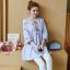 K1153401 เสื้อคลุมท้องแฟชั่้นเกาหลี โทนสีฟ้า thumbnail 8