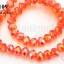 คริสตัลจีน ทรงซาลาเปา สีส้ม 10 มิล (1เส้น) thumbnail 1