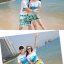 เสื้อคู่รัก ชุดคู่รักเที่ยวทะเลชาย +หญิง เสื้อยืดสีขาวลายคู่รักสวีทเที่ยวทะเล กางเกงขาสั้นสีเขียว +พร้อมส่ง+ thumbnail 7