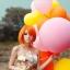 """ลูกโป่งจัมโบ้ สีชมพู ขนาด 24 นิ้ว - Round Jumbo Balloon Pink 24"""" thumbnail 1"""