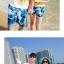 เสื้อคู่รัก ชุดคู่รักเที่ยวทะเลชาย +หญิง เสื้อยืดสีขาวลายคู่รักสวีทเที่ยวทะเล กางเกงขาสั้นลายแฉกโทนสีฟ้า +พร้อมส่ง+ thumbnail 6