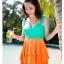 พร้อมส่ง ชุดว่ายน้ำทรงแซก เซ็ต 2 ชิ้น โทนสีเขียวส้ม ชุดแซกแต่งระบายน่ารักมากๆ (ชุดแซก + กางเกงขาสั้น) thumbnail 5
