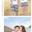 เสื้อคู่รัก ชุดคู่รักเที่ยวทะเลชาย +หญิง เสื้อยืดสีขาวลายยิ้ม I Love กางเกงขาสั้นลายไทย สีดำ +พร้อมส่ง+ thumbnail 6