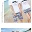 เสื้อคู่รัก ชุดคู่รักเที่ยวทะเลชาย +หญิง เสื้อยืดสีขาวลายหนวด กางเกงขาสั้นลายไทยสีดำ +พร้อมส่ง+ thumbnail 7