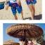 เสื้อคู่รัก ชุดคู่รักเที่ยวทะเลชาย +หญิง เสื้อยืดสีขาวลายสวีทริมทะเล กางเกงขาสั้นลายมะพร้าวโทนสีฟ้า +พร้อมส่ง+ thumbnail 4