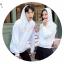 เสื้อกันหนาวคู่รักพร้อมส่ง แฟชั่นคู่รัก ชาย +หญิงเสื้อกันหนาวแบบสวม มีฮูด สีขาว แต่งลายใบไม้ thumbnail 4