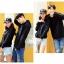 เสื้อกันหนาวคู่รักพร้อมส่ง แฟชั่นคู่รัก ชาย +หญิงเสื้อกันหนาวแบบสวม มีฮูด สีดำ thumbnail 8