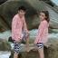 PRE กางเกงขาสั้นคู่รัก Couple beach pant ลายม้าลายสุดชิค thumbnail 5
